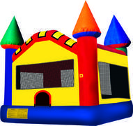 15 x 15 primary colored bounce house