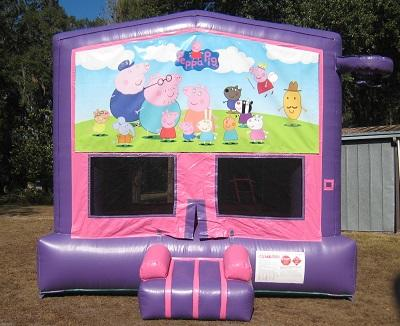 Peppa Pig 2 In 1 Pink And Purple 13ft X 13ft Bounce House