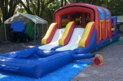 41ft WET Covered Two Lane Obstacle Course w/ pool - UNIT #402+601