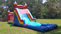 48ft Two Lane Obstacle WATER Slide - UNIT #423 + #601