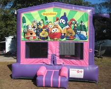 Veggie Tales Pink and Purple Bounce w/Hoops UNIT #103