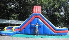18ft Chutes and Ladders Two Lane Water Slide - UNIT #526
