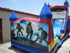 18ft Ninja Turtles WET Slide - UNIT #528