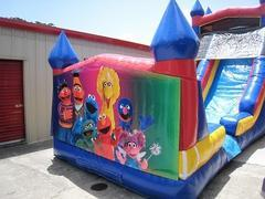 18ft Sesame Street WET Slide - UNIT #528