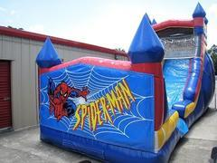 18ft Spiderman WET Slide - UNIT #528