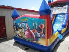 18ft Sponge Bob WET Slide - UNIT #528