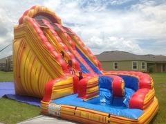 *NEW* 19ft Inferno Two Lane CURVED Water Slide  - UNIT #544