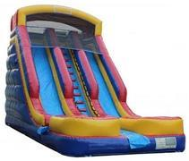 20ft Drop Zone Two Lane Water Slide w/ TWO POOLS - UNIT #507