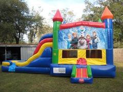 Frozen Multi Colored  5 in 1 Castle WET Combo - UNIT #220
