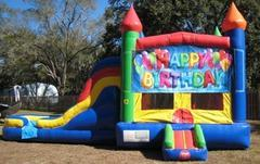Happy Birthday Multi Colored  5 in 1 Castle WET Combo - UNIT #220