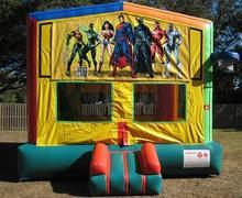 Justice League 2 in 1 Multi-Colored Bounce w/Hoops - UNIT #112