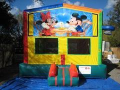 Mickey and Minnie  2 in 1 Multi-Colored Bounce w/Hoops - UNIT #112