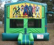 Justice League 2 in 1 GREEN Bounce w/Hoops - UNIT #113