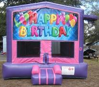 Happy Birthday Pink and Purple Bounce w/Hoops UNIT #103
