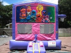 Sesame Street Pink and Purple Bounce w/Hoops UNIT #103