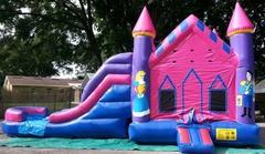 4 in 1 Castle Princess Two Lane Water Combo - UNIT #219