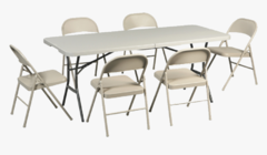 Combo (1 tables and 6 chairs)