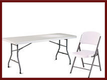 Tables and Chairs (Price with Bouncer only)