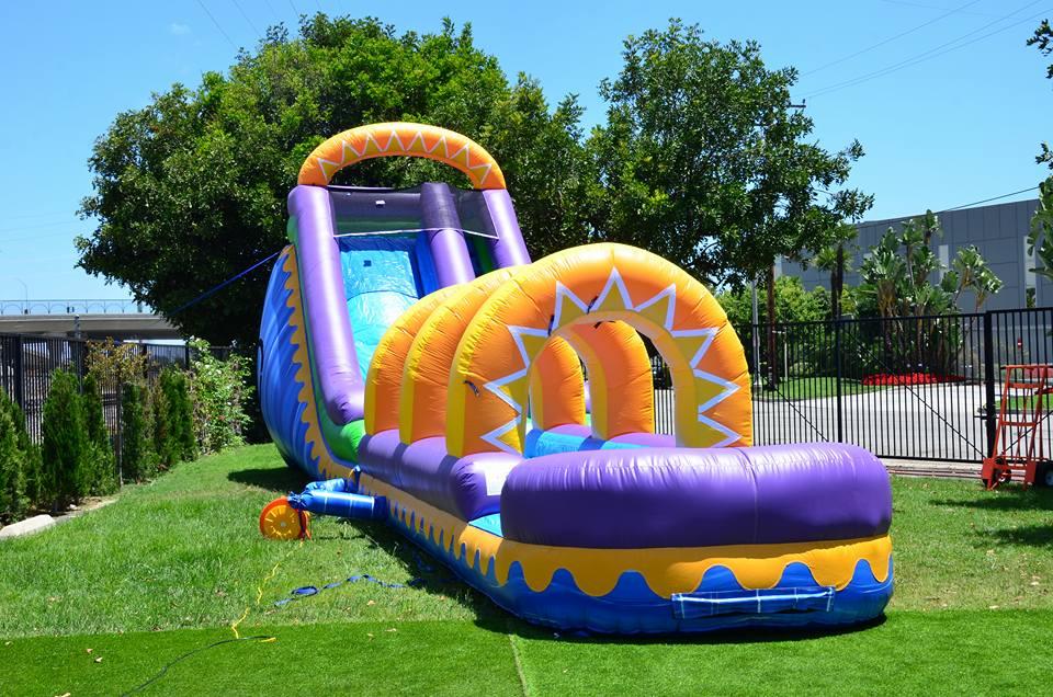 Sunrise Water Slide with slip n slide