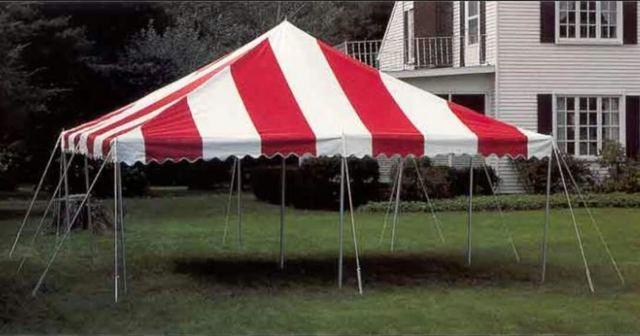 Red 20' x 20' Tent (Free Set Up)