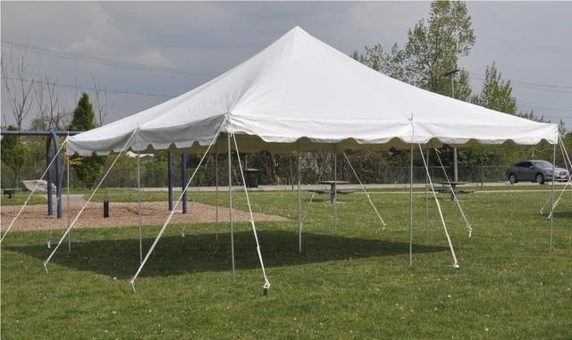 White 20' x 20' Grass Tent (FREE Set Up)