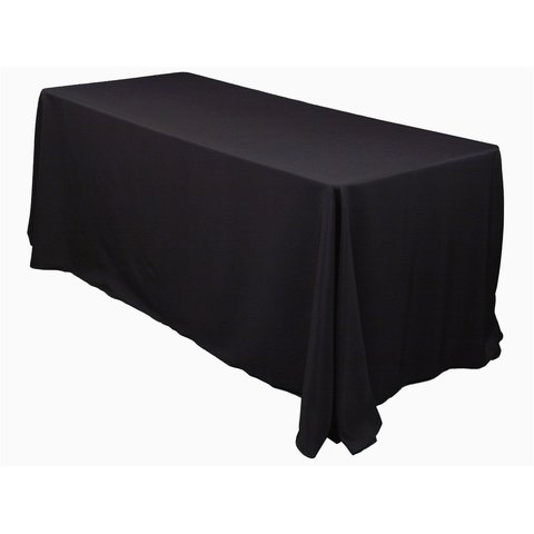 8' Rectangle Table Black Linen (90