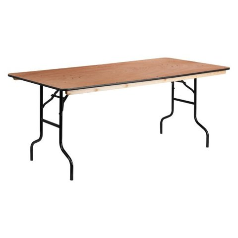 8' Rectangle Table Rental (Wood)