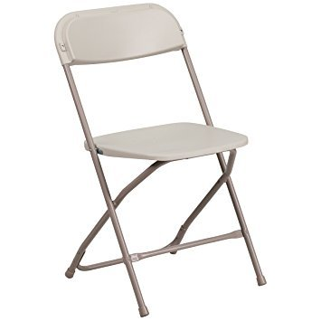 Beige Folding Chairs (Like New - Indoor Only)