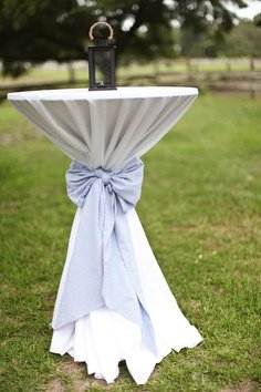 Cocktail Table Linens (Without Bow)