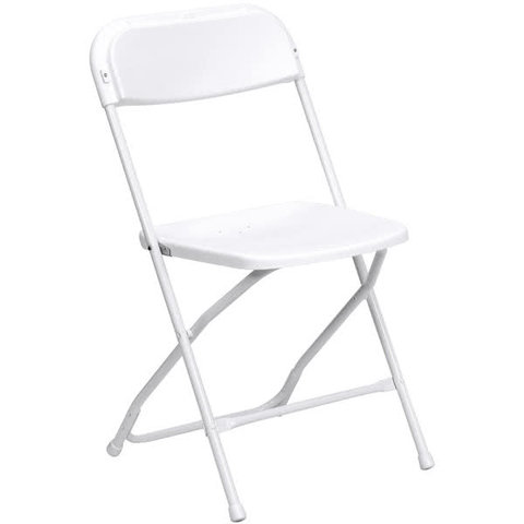 Premium White Folding Chair