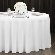 "White Polyester Linens (60"" Round Tables)"