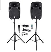 "Two 15"" Large Speakers (with Mic)"