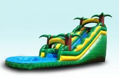 Tropical 18ft Water Slide