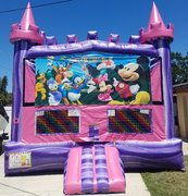 Mickey Clubhouse Pink Castle Bouncer