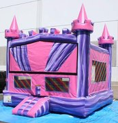 Pink Purple Castle Bouncer