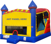 Large Castle Combo Dry with Slide and Basketball Hoop