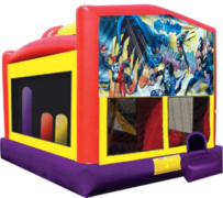 Batman Large Combo Obstacle Course Bounce House 20x16 with Slide and Hoop