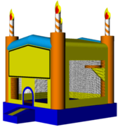 Birthday Cake 13x13 Fun House