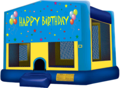 Boys Happy Birthday Large 15x15 Bouncer