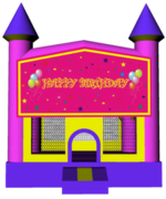 Princess Castle Happy Birthday 13x13 Fun House