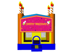 Happy Birthday Cake Girls 13x13 Fun House