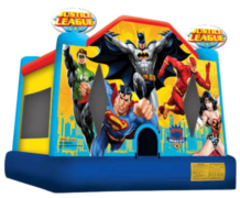 Justice League 13x13 Bounce House with Batman & Superman
