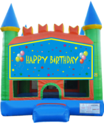 Boys Happy Birthday Pastel Castle 13x13 Fun House