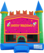 Girls Birthday Pastel Castle 13x13 Fun House