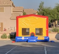 15x15 Bounce House with basketball hoop inside