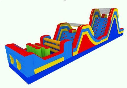 62' Dual Slide Obstacle Course