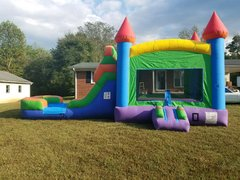 Rainbow Castle COMBO UNIT WITH SLIDE (wet or dry)