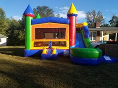 DELUXE CASTLE COMBO UNIT WITH SLIDE (wet or dry)