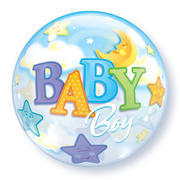 "Bubble Baby Boy Moon & Stars 22"" item 008"