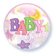 Bubble Baby Girl Moon & Stars 22 inch item 009